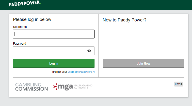 Paddy-Power-login