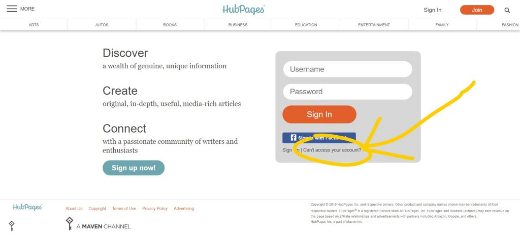 hubpages-resetpassword1