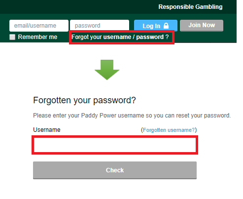 paddypower-password-reset